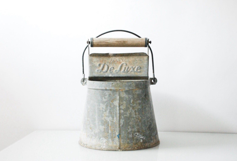 Antique pail antique bucket galvanized bucket metal bucket for Old metal buckets