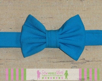 Electric Blue Aquamarine Bow Tie Infant, Child, Youth, Adult