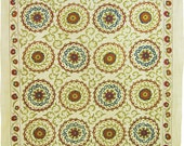 Antique design large hadmade suzani from Bukhara . Uzbekistan 1033