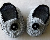 Affordable double-sole toddler slippers , Treasury Item, Crocheted Chunky Yarn / Ready to ship