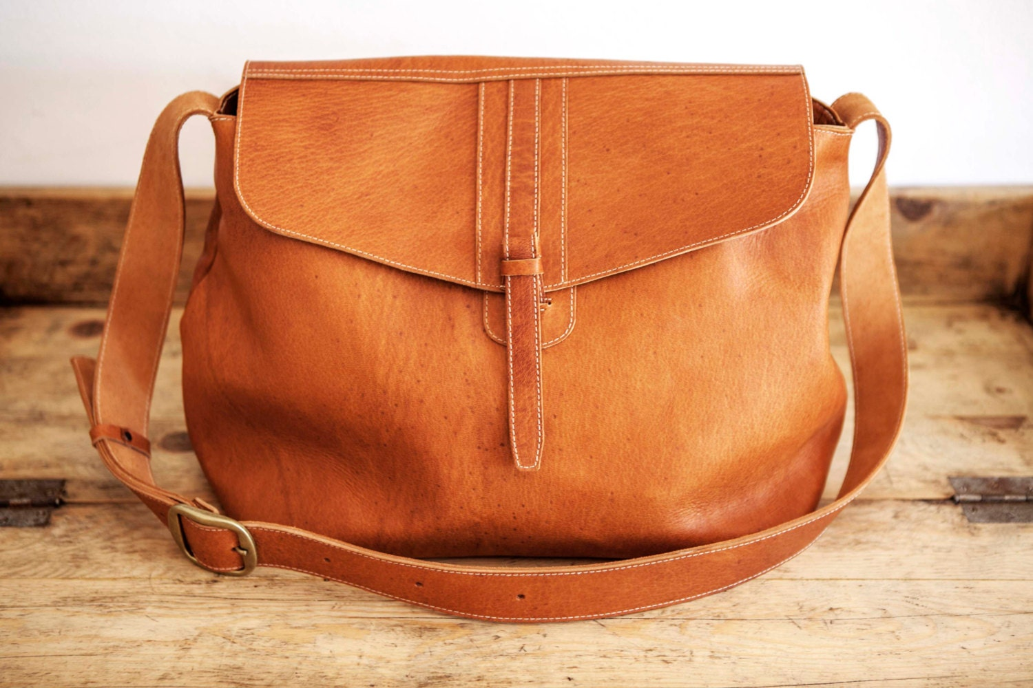 SATCHEL Leather Bag // Big Leather handbag // Brown coach