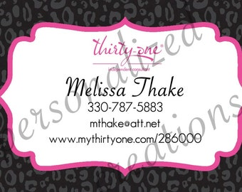 Framed Business Card Made for Thirty-One gifts. More designs Available