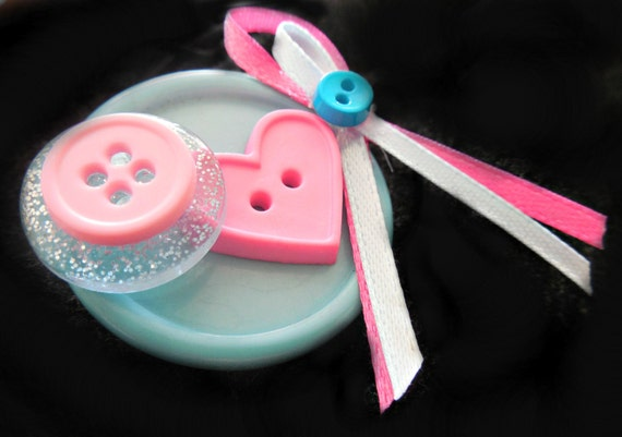 Infant loss/ infertility awareness button brooch