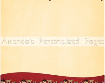12x12 1-page Personalized Scrapbook  Paper (Merry Christmas)