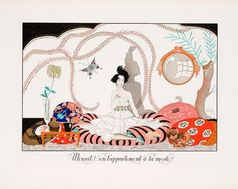 "George Barbier : ""Minuit...ou l'appartement a la mode"" (1920) - Giclee Fine Art Print"