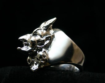 Demon Ring,Sterling Silver,Mirror finish, Handmade, Exclusive