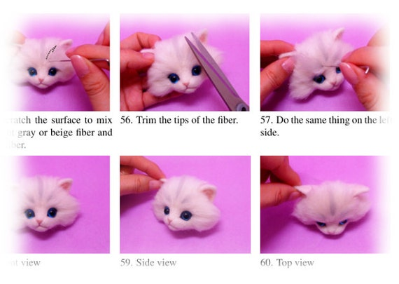 Pdf Tutorial Ii Needle Felted Long Haired Cat How To
