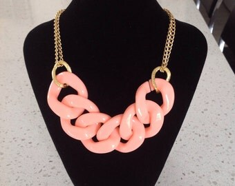 Super Chunky Coral Statement Necklace