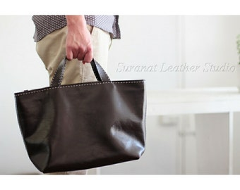 Leather Handmade Tote Bag  (made to order duration 14 days).