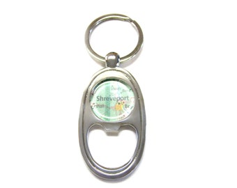 Shreveport Louisiana Bottle Opener Key Chain