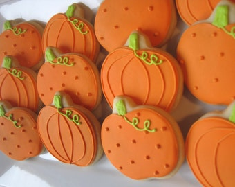 Halloween/Autumn cookies, pumpkins, cookie favors