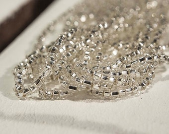 Silver Lined  Seed Beads (5 strands)