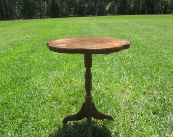 Vintage Side Table, Wood Table, End Table, Table, Furniture, L Hitchcock Conn., Collectible