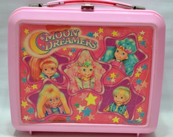 Vintage 1987 Moon Dreamers Lunch Box Plastic Hasbro Aladdin Toy Chest