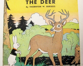 """Thornton W. Burgess, """"Young Flash the Deer"""" story booklet. 1940. 12 pages"""