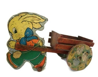 Vintage lithographed Easter toy, NN Hill Brass Co, 1943