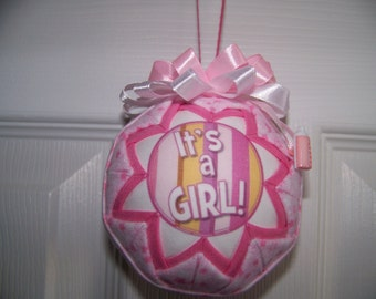 It's A Girl Quilted Ornament