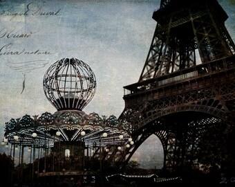 Paris Photography, Paris Art, Eiffel Tower Paris Photo,Photography, Paris Carousel Photo, French Eiffel Tower Paris Photography, Wall Art