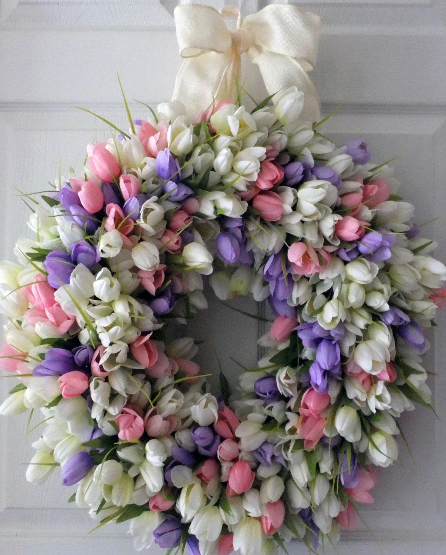 White Tulip Wreath