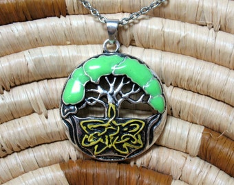 Tree of Life Enameled Pendant - Item 56867