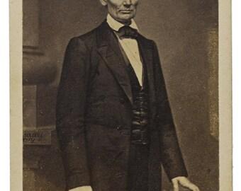 Abraham Lincoln, cdv photograph, 1860s, U.S. President, Civil War Era- Photo Print