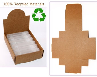 Lip Balm Display Box // Counter Top Display // Wholesale Display Box // Recycled Cardboard // Kraft