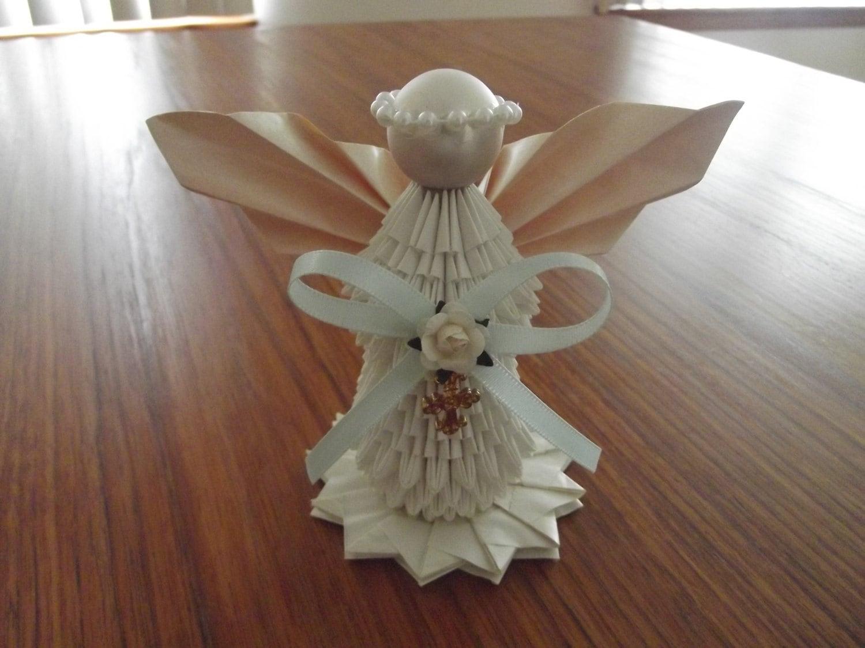 3d origami angel. Black Bedroom Furniture Sets. Home Design Ideas