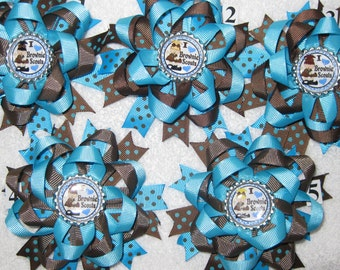Girl Scouts Brownies Bottle Cap Hair Bow