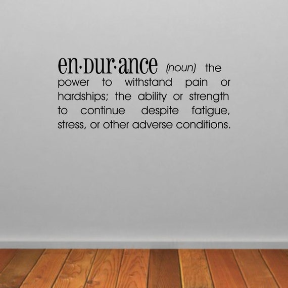 Wall Decoration Definition : Endurance dictionary definition wall sticker