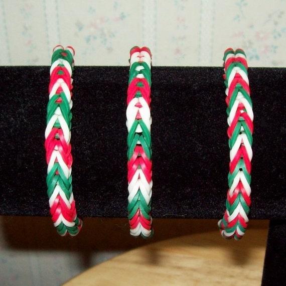 Items Similar To Rainbow Loom Rubber Band Bracelet
