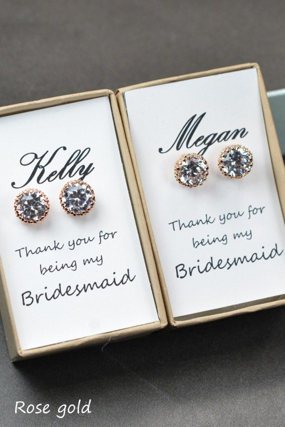 Etsy Wedding Gift For Bride : ... Stud Earrings, Bridesmaids Studs, Bridesmaids Gifts, Bridal Party Gift