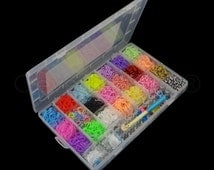 Loom Bands Mega Kit - Over 4400 Pieces - Includes Loom Board, Loom Hoop, 48 S-Clips, Charms and Storage Case Organizer - USA Shipper