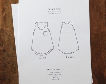 Wiksten Tank Top + Dress Paper Pattern- Wiksten Patterns