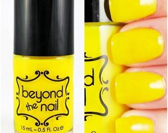 Neon Yellow Nail Polish - UV Reactive