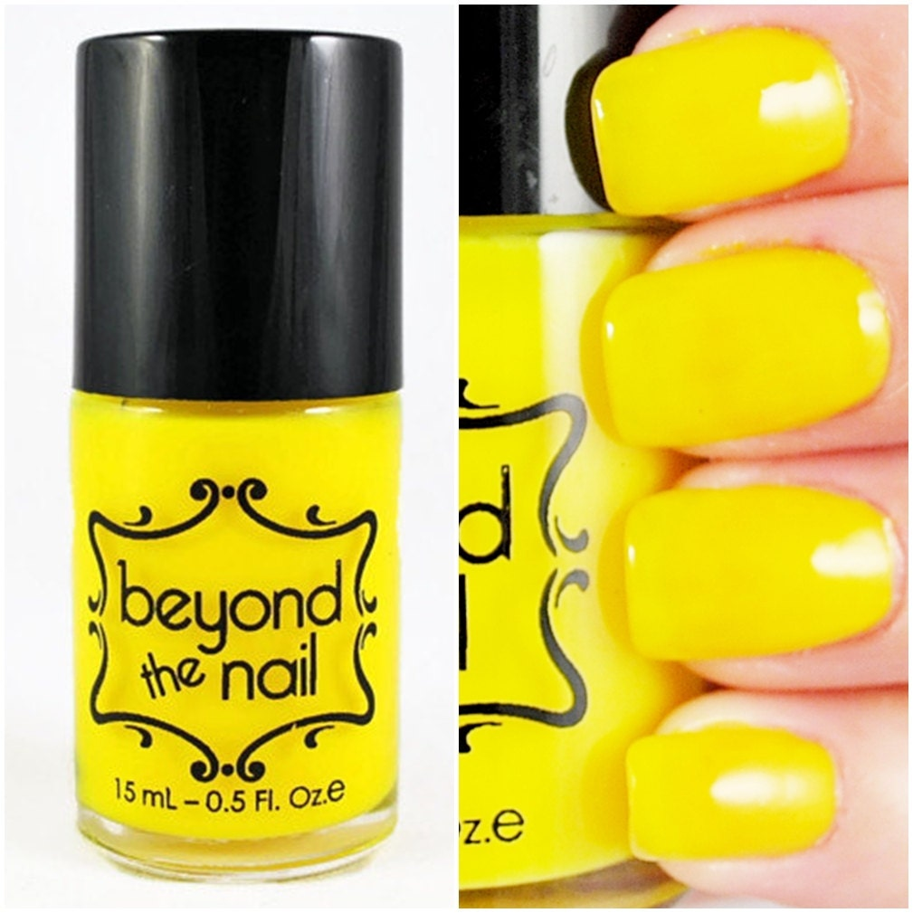 Neon Yellow Nail Polish UV Reactive