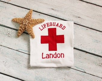 Personalized Lifeguard Bodysuit OR Shirt