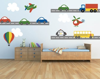 Boy Wall Decal Etsy - Wall decals cars