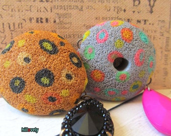 Handmade polymer clay pendants  made by Hilla