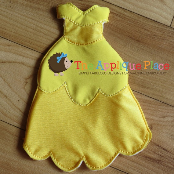 Yellow princess gown for dolls cloth doll clothing in