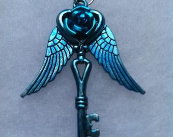 Blue Low Wing Rose Key
