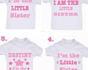 LITTLE SISTER or any family member  T-SHIRT any name