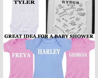 Any name bodysuit baby girl, baby boy, baby shower gift, Auntie