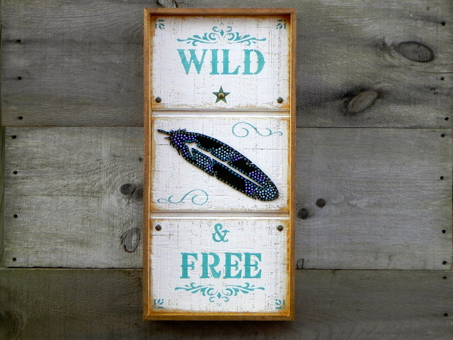 Handmade Wood Signs Rustic Wall Decor Framed By Crowbardsigns