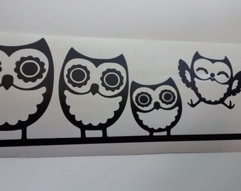 Owl Family Wall Decal/Owl Wall Decals/Owls/Wall Decals/Owl Family