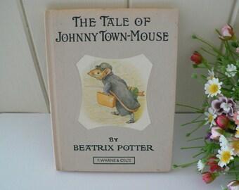 Beatrix Potter 1970 vintage book,The Tale of Johnny Town Mouse, Beatrix Potter story, Child's story,Mice story