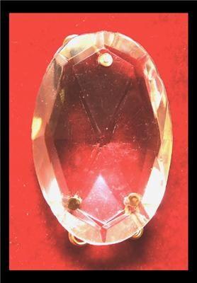 Big Vintage 3 Hole Czech Crystal Prism Chandelier