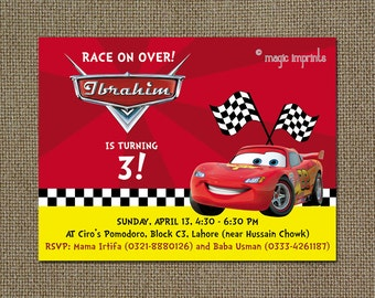 Disney Cars party invitation (PRINTABLE)