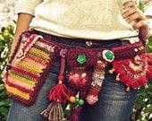 RESERVED FOR JODII - 4th list - Boho Belt Pockets, Festival utility Adjustable Pixie belt