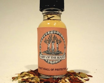 Fiery Wall Of Protection Oil  For Protection & Defense: Hoodoo Conjure Voodoo Wicca Witchcraft Pagan