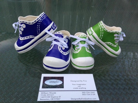 ceramic baby tennis shoes by designedbyfire on etsy